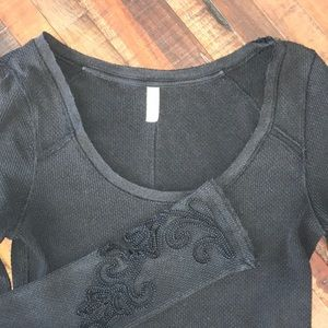Few People thermal top with embellished sleeves